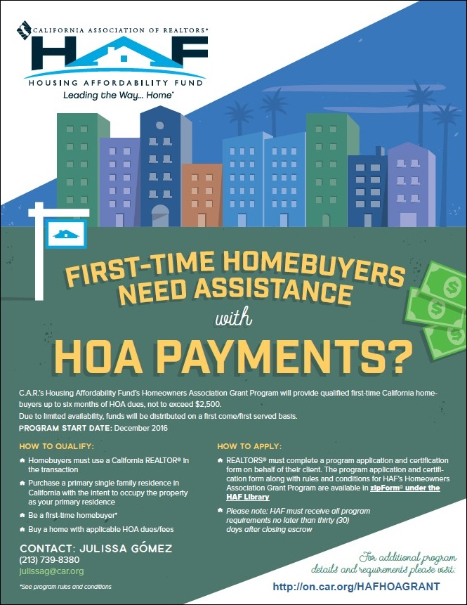 First Time Home Buyer HOA Payment Assistance - GATELY Properties